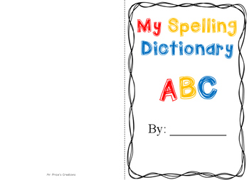 Spelling Dictionary Book