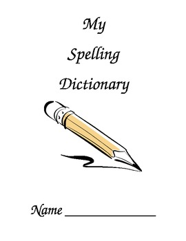 Spelling Dictionary Cover Page