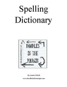 Spelling Dictionary (Manuscript)