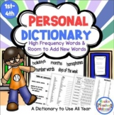 Personal Student Spelling Dictionary - Reference Tool