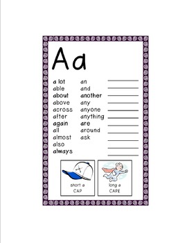 Spelling Dictionary - Second Grade Students' Personal Dictionary
