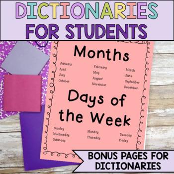 student dictionary spelling words super bundle over 100 pages. Black Bedroom Furniture Sets. Home Design Ideas