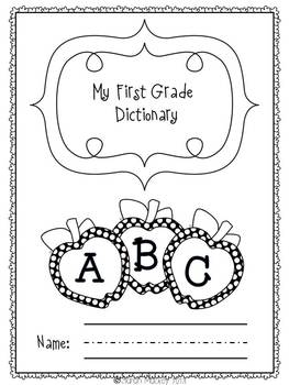 Spelling Dictionary for Primary Grades {Common Core Math T