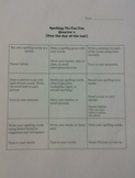 Spelling Differentiation Quarterly Tic-Tac-Toe Boards