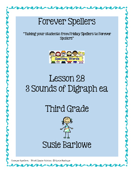 Spelling - Digraph ea - 3 Sounds - 3rd Grade