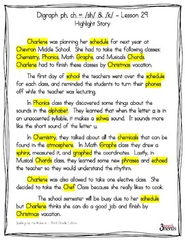 Spelling - Digraph ph & 2 More Sounds of ch - Third Grade