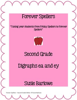 Spelling - Digraphs ea and ey - 2nd Grade