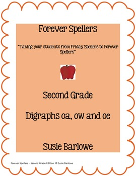 Spelling - Digraphs oa,ow, and oe- 2nd Grade