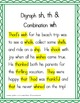 Spelling - Digraphs sh, th and Combination wh - 1st Grade