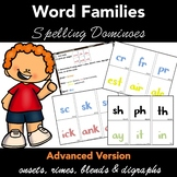 Spelling Dominoes Word Families  - ADVANCED Version - - Ju