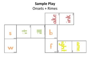 Word Families: Spelling Dominoes Activity - BUNDLE