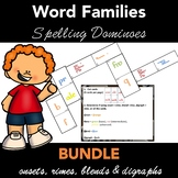 Spelling Dominoes Word Families  - - BUNDLE - - Just Cut and Play
