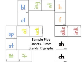 Word Families: Spelling Dominoes Activity - INTERMEDIATE Version