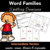 Spelling Dominoes Word Families  - INTERMEDIATE Version -