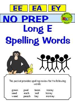 Spelling - EE - EA - EY