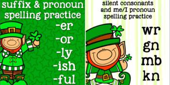 Spelling- Easter, St. Patrick's- prefix, suffix, short /o/, digraphs, consonants