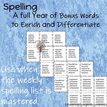 Spelling A full Year of Bonus Words to Enrich and Differentiate