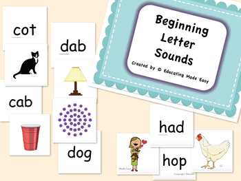 Word Study Spelling Features: Beginning Consonant Letters