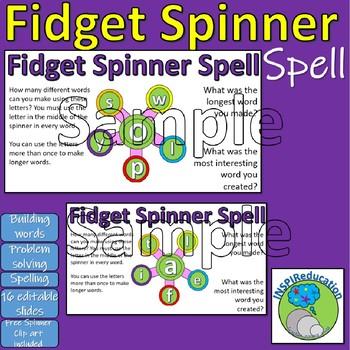 Spelling - Fidget Spinner Spell - Investigation into spelling
