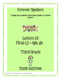 Spelling - Final (j) = dge and ge - 3rd Grade