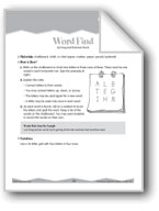 Spelling: Finding Words and Letter Changes (Ten-Minute Act