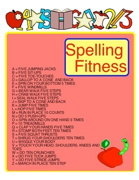 Physical Education - Spelling Fitness