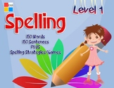 Spelling Flashcards with Pictures and Sentences- Level 1