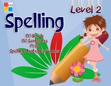 Spelling Flashcards with Pictures and Sentences- Level 2