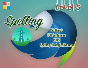 Spelling Flashcards with Sentences- Level 5