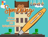 Spelling Flashcards with Sentences- Level 6