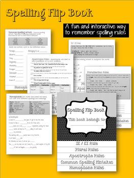 Spelling Flip Book