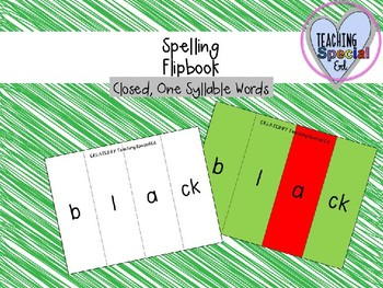 Spelling Flipbook for syllable types - GROWING BUNDLE