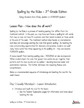 Spelling - Floss Rule - Third Grade