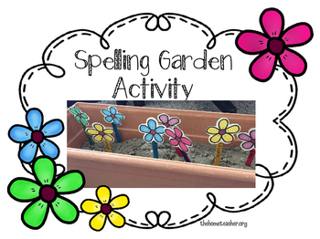 Spelling Flower Garden Activity