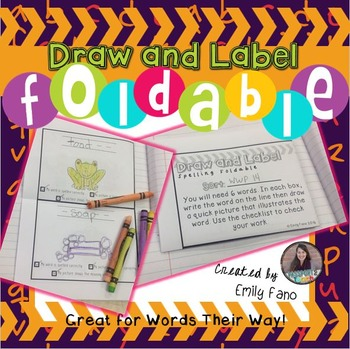 Spelling Foldable: Draw and Label