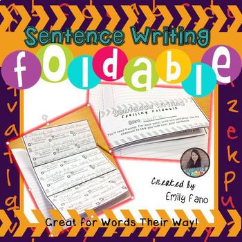 Spelling Foldable: Sentence Writing
