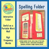 Spelling Resource Folder - Portable Word Wall Templates