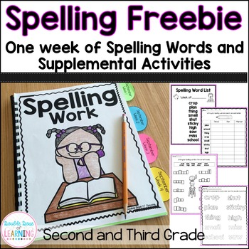 Spelling Freebie: Words and activities for Second and Third Grade