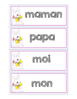 Spelling French Sight Words - Easter Theme