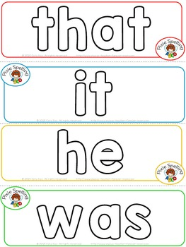 Sight Words Play Dough Mats - Fry 1 to 100