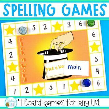 Spelling Games for any Spelling List