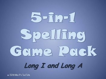 Spelling Game 5-Pack [Long I and Long A]