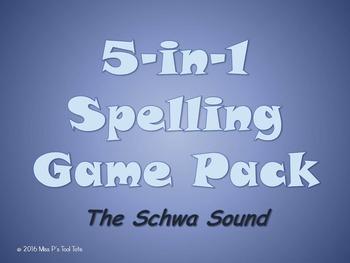 Spelling Game 5-Pack [Schwa Sound]