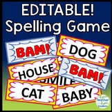 Spelling BAM Game: Editable Spelling Game (also known as Zap or Kaboom!)