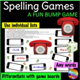 Spelling Game using individual lists a BUMP GAME