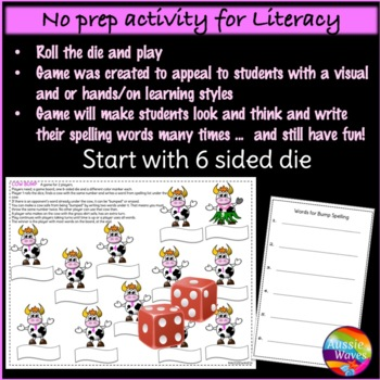 Spelling Game Center Activity BUMP GAME Uses individual lists Any words & levels