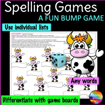 Spelling Game Center Activity BUMP GAME Uses individual li