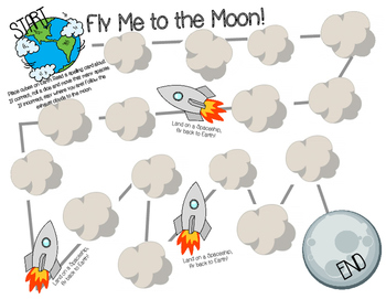 Spelling Game: Fly Me to the Moon