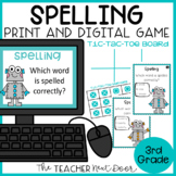 Spelling Game Print and Digital Distance Learning