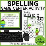Spelling Game   Spelling Center for 4th Grade   Spelling Activity